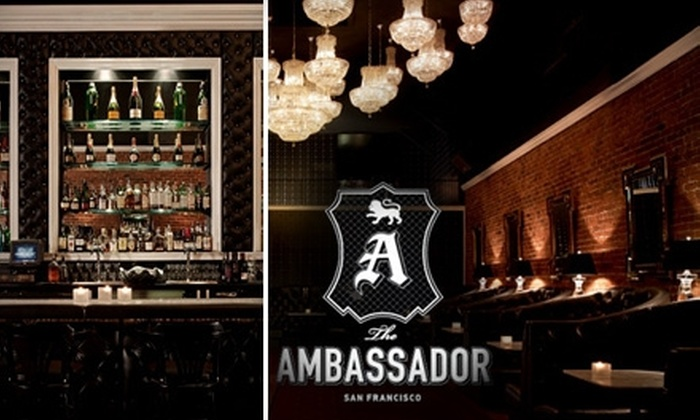 The Ambassador - Downtown: $25 for $50 Worth of Lounge Fare, Cocktails, and Other Drinks at The Ambassador