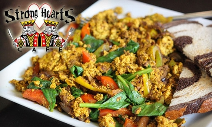 Strong Hearts Cafe - Eastside: $5 for $10 Worth of Vegan Cuisine and Drinks at Strong Hearts Cafe