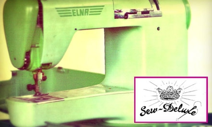 Sew-Deluxe - San Antonio: $15 for $30 Worth of Lounge Time, Classes, Materials, and More at Sew-Deluxe