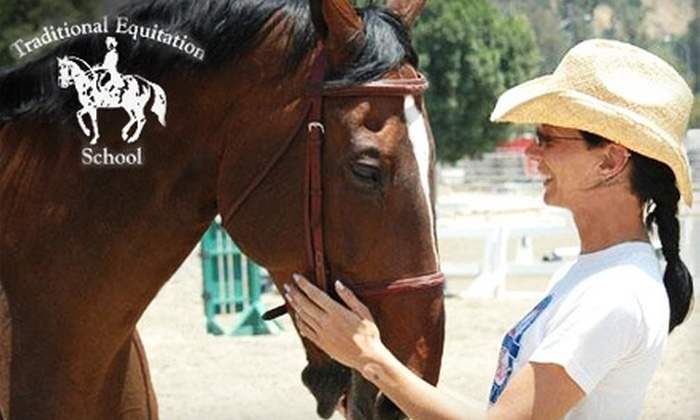 Traditional Equitation School - Burbank: $69 Riding-Lesson Package at Traditional Equitation School