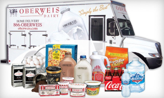 Oberweis Dairy - Multiple Locations: $50 for $100 Worth of Home-Delivered Dairy and Grocery Products from Oberweis Dairy