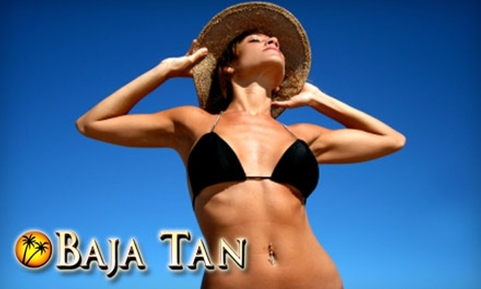 Baja Tan - Fox Point: $20 for a One-Month Unlimited Tanning Bed Membership or One Full-Body Sunless Airbrush Tan at Baja Tan