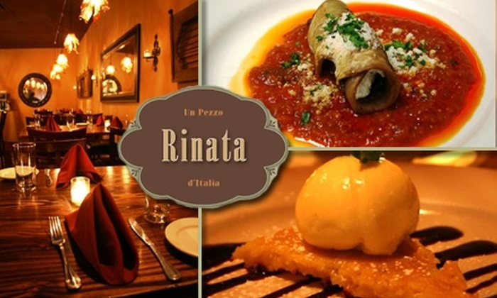 Rinata Restaurant - Lowry Hill East: $15 for $30 Worth of Italian Fare at Rinata Restaurant