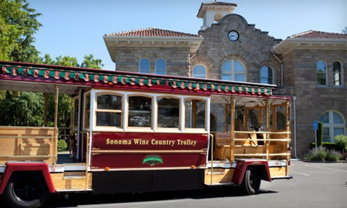 Ed & Jonnies Sonoma Wine Trolley - Sonoma: $99 for a Four-Hour Sonoma Valley Winery Tour with Lunch for Two from Ed & Jonnies Sonoma Wine Trolley (Up to a $198 Value)