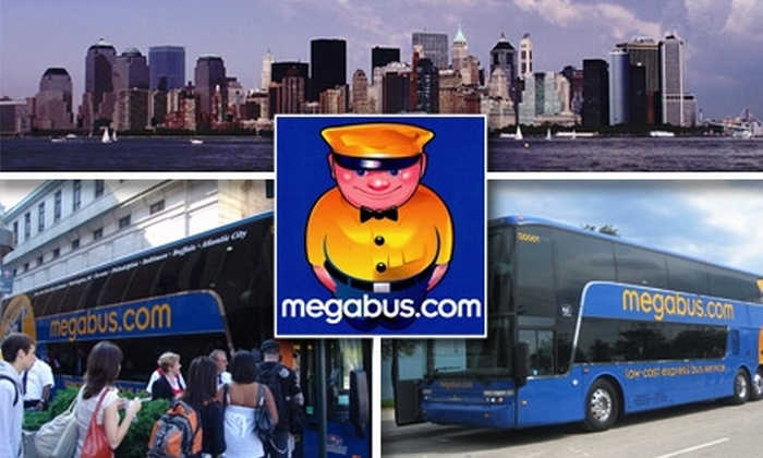 megabus.com - Washington DC: $25 Roundtrip Bus Ticket from Washington D.C. to New York from Megabus.com