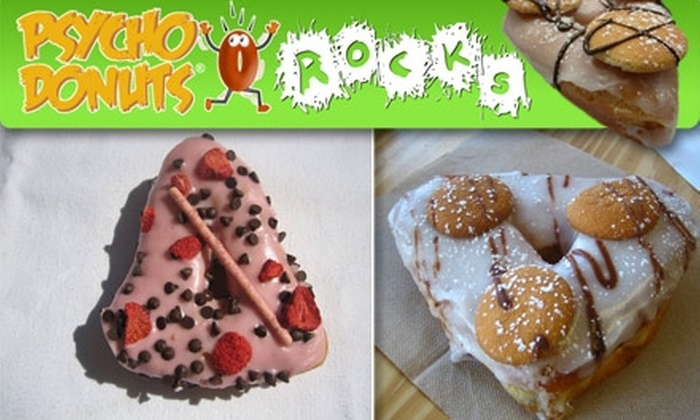 Psycho Donuts - Campbell: $10 for a Dozen Demented Donut Creations at Psycho Donuts ($21 Value)