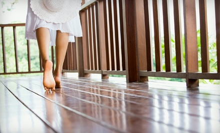 Deck Cleaning with Sealing or Staining for a Small-Sized Deck, Up to 100 Square Feet (a $220 value) - Water Works Atlanta in