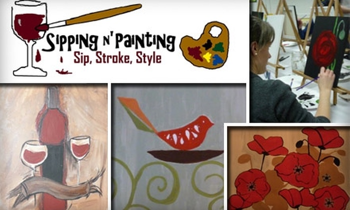 Sipping n' Painting - Highland: $20 for a Two-Hour Painting Session at Sipping n' Painting