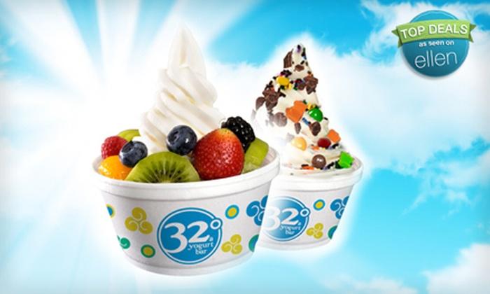 32 Degrees A Yogurt Bar - East Louisville: $6 for $12 Worth of Self-Serve Frozen Yogurt at 32 Degrees A Yogurt Bar