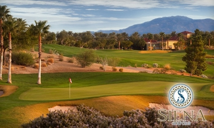 Siena Golf Club - Las Vegas: $40 for 18 Holes of Golf with Cart Rental at Siena Golf Club (Up to $139 Value)