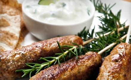 $20 Groupon to Pita'z Mediterranean and American Cuisine - Pita'z Mediterranean and American Cuisine in Hiawatha