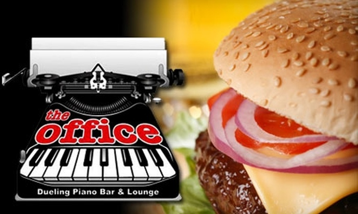 The Office - Topeka / Lawrence: $10 for $20 Worth of Classic Bar Fare at The Office Dueling Piano Bar & Lounge