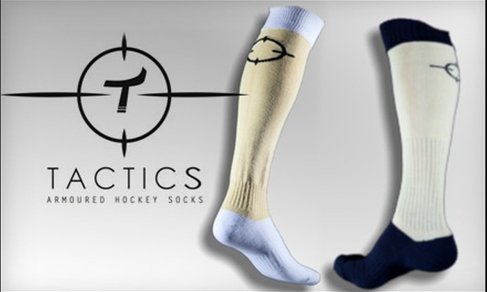 Tactics Armoured Hockey Socks: $23 for Skate Socks from Tactics Armoured Hockey Socks ($47 Value)