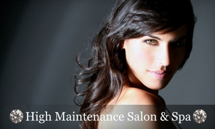 High Maintenance Salon & Spa - Carisbrooke: $29 for a Cut, Style, and J. Beverly Hills Professional Reconstructive Treatment with 25% Off an Airbrush Tan and Any Retail Product at High Maintenance Salon & Spa in North Vancouver (Up to $130 Value)