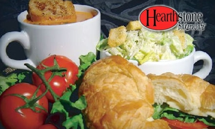 Hearthstone BakeryCafe - Multiple Locations: $7 for $14 Worth of Coffee, Sandwiches, Salads, and More at Hearthstone BakeryCafe. Choose from Two Locations.