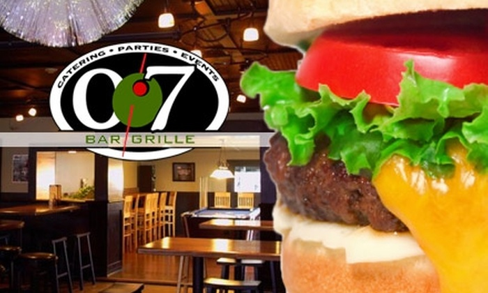 007 Bar and Grille - North Kingstown: $10 for $25 Worth of Cuisine at 007 Bar and Grille