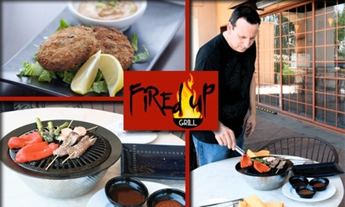 Fired Up Grill - Chandler: $15 for $30 Worth of American Cuisine at Fired Up Grill