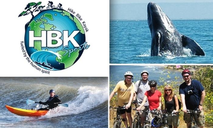 Hike Bike Kayak - San Diego: $45 Sea-Cave Kayaking, Whale-Watching, or Mountain-Bike Tour for Two at Hike Bike Kayak