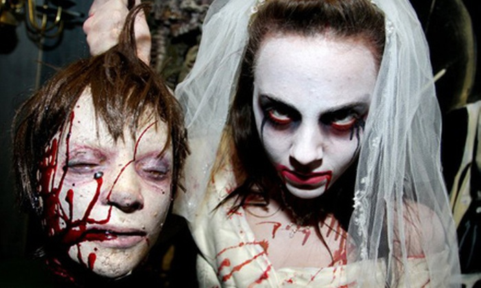Village of Horrors - Victoria Park: Haunted-Attraction Outing for Two to Village of Horrors. Three Options Available.