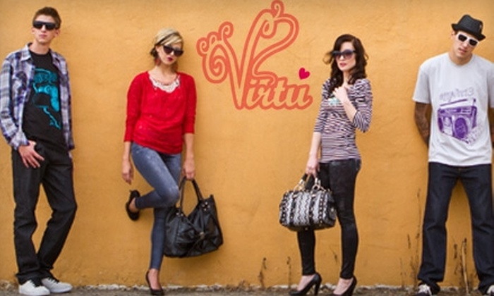 Virtu by Bacio Boutique - Carlsbad: $10 for $25 Worth of Clothing and Accessories at Virtu by Bacio Boutique in Carlsbad