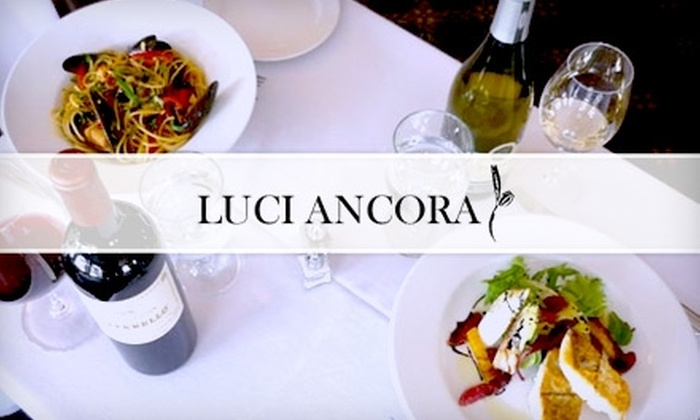 Luci Ancora - Macalester - Groveland: $15 for $35 Worth of Italian Fare and Drinks at Luci Ancora
