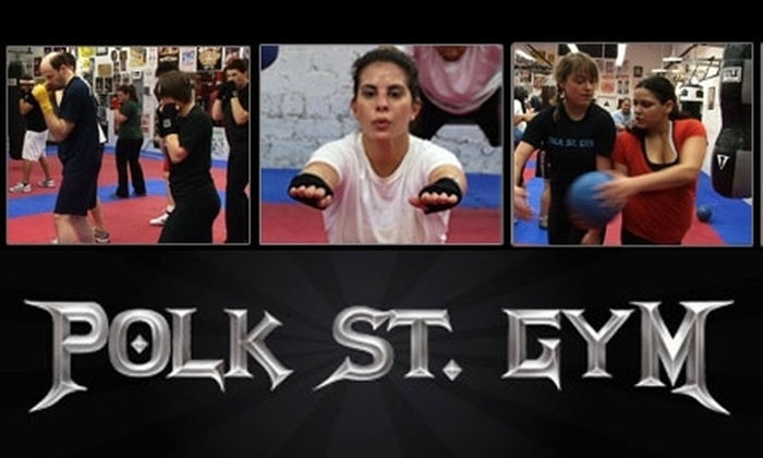 Polk Street Gym - Civic Center: $20 for Three Cardio Boxing Classes at Polk Street Gym