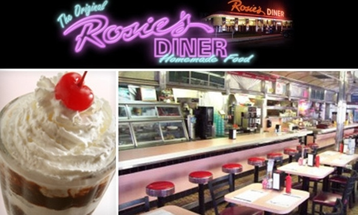 Rosie's Diner - Algoma: $7 for $15 Worth of American Comfort Food, Milkshakes, and More at Rosie's Diner in Rockford