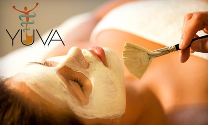 Yuva Aesthetics & Wellness - Northeast Calgary: $85 for a Consultation, Vitamin Infusion Facial, Light Therapy Session, Masque Crystal, and Either a Colostrum Gel or Alginate Masque at Yuva Aesthetics & Wellness (Up to $255 Value)