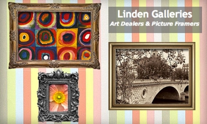 Linden Galleries - Citrus Park-Fern Lake: $45 for $100 Worth of Artwork, Customized Framing, Repairs, and More at Linden Galleries
