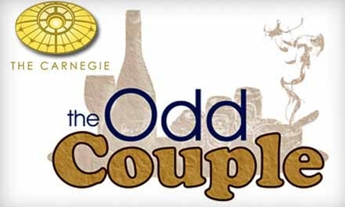 "The Carnegie Visual and Performing Arts Center - Covington: $9 for One Ticket to ""The Odd Couple"" at The Carnegie Visual and Performing Arts Center ($19 Value). Choose From Nine Dates to Attend."