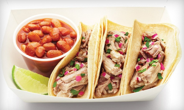 Qdoba Hampton Roads - Williamsburg: Hot-Taco-Bar Catering Order for Up to 10 or $6 for $12 Worth of Mexican Fare at Qdoba in Williamsburg (Up to 51% Off)