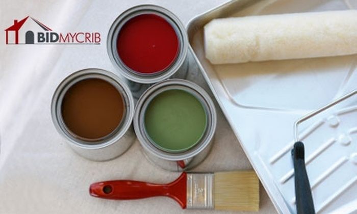 BidMyCrib - Cincinnati: $69 for a One-Room, Two-Coat Painting from BidMyCrib (Up to $183.71 Value)