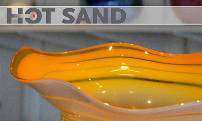 Hot Sand - Asbury Park: $15 for a Glass-Bubble-Blowing Session at Hot Sand Glass Studio ($30 Value)