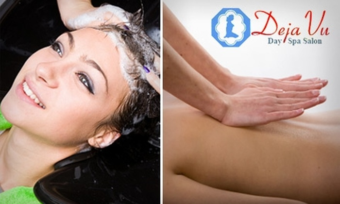 Déjà Vu European Spa & Salon - Fort Worth: Choice of $27 for a Haircut and Shampoo ($55 Value) or $35 for a Swedish Massage ($75 Value) at Déjà Vu European Spa & Salon