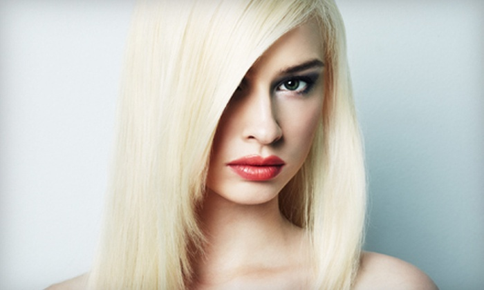 Hollywood Blonde Salon - Saint Charles: $49 for a Haircut and Style, Highlights, and an Eyebrow Wax at Hollywood Blonde Salon in Saint Charles ($106 Value)