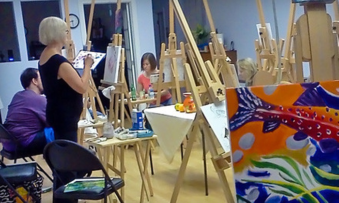 Chicago Art and Design Center - Chicago: $22 for a BYOB Art Class at Chicago Art and Design Center ($45 Value)