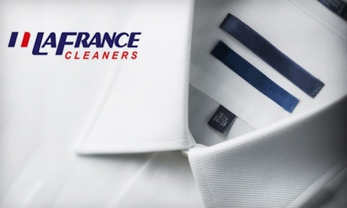 LaFrance Cleaners - Multiple Locations: $15 for $30 Worth of Dry Cleaning from LaFrance Cleaners