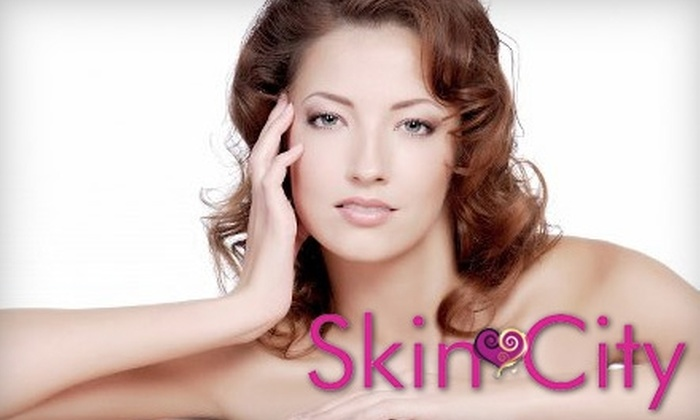 Skin City LV - Spring Valley: $49 for a 75-Minute European Facial with Choice of Specialty Mask, Plus a Crystal Eye Treatment, at Skin City LV