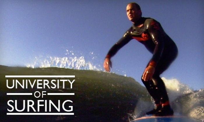 University of Surfing - Linda Mar: $50 for Introductory Surfing Lesson from University of Surfing in Pacifica ($100 Value)