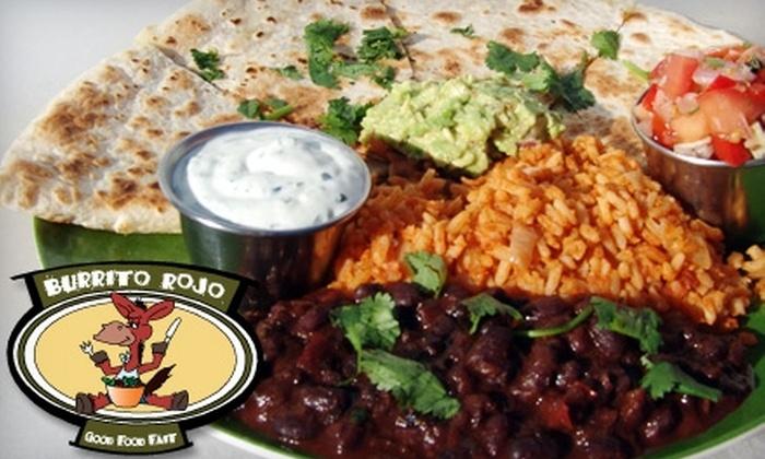 Burrito Rojo - Montague: $5 for $10 Worth of Made-to-Order Burritos at Burrito Rojo