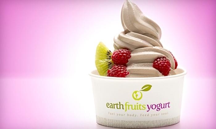 EarthFruits Yogurt - University: $5 for $10 worth of Frozen Yogurt at EarthFruits Yogurt in Provo
