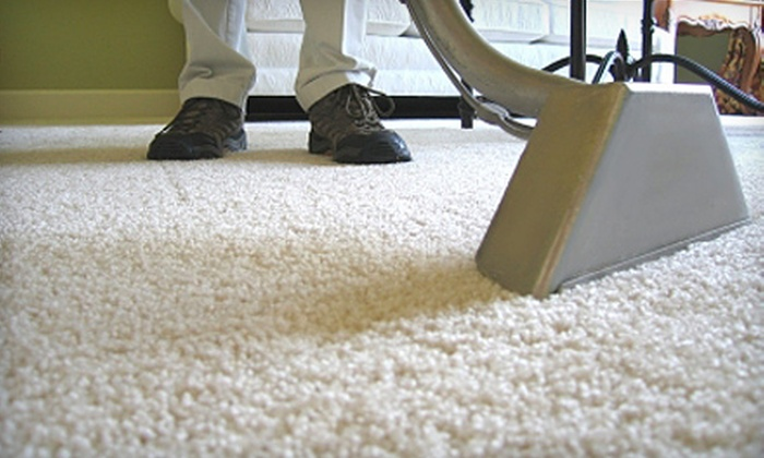 Steemer Express - Spokane / Coeur d'Alene: $59 for Carpet Cleaning and Holiday-Scented Deodorizing Treatments for Two Rooms from Steemer Express (Up to $124 Value)