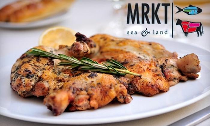 MRKT Sea & Land - Las Vegas: $25 for $50 Worth of Steak, Seafood, Drinks, and More at MRKT Sea & Land in North Las Vegas