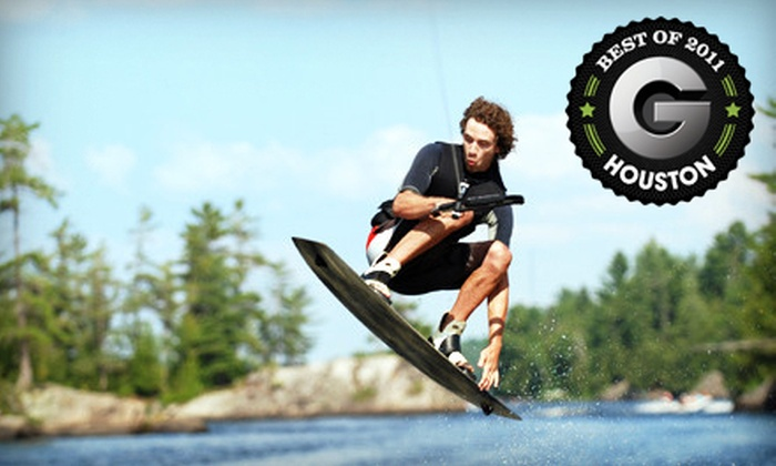 Wake Nation Houston - Alvin-Pearland: Two-Hour or Full-Day Wakeboarding or Water-Sport Outing at Wake Nation Houston in Rosharon (Up to 58% Off)