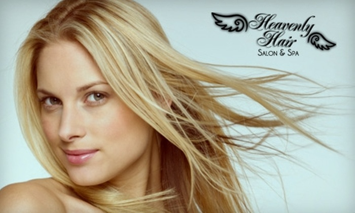 Heavenly Hair Salon & Spa - Elgin: $150 for a Keratin Fusion Straightening Treatment at Heavenly Hair Salon & Spa in Elgin ($325 Value)