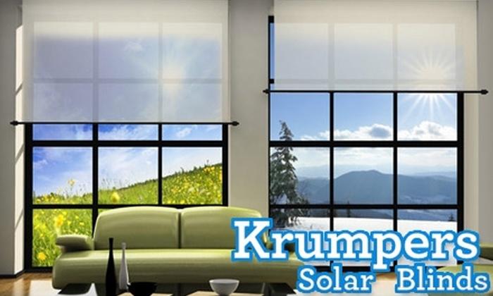 Krumpers Solar Blinds: $50 for $280 Towards Solar Blinds from Krumpers Solar Blinds