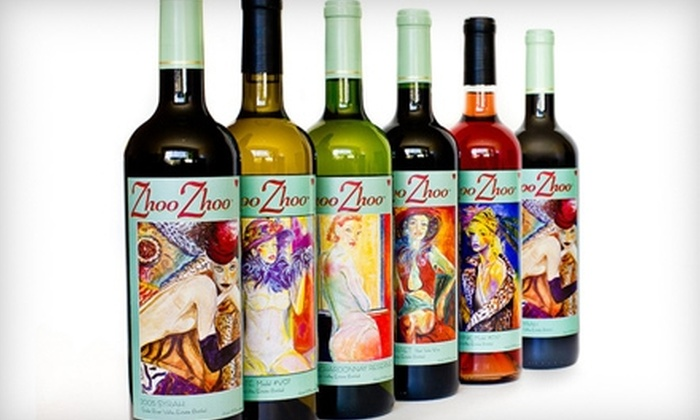 Zhoo Zhoo - Caldwell: Six Bottle Wine Package for Pickup or Delivery from Zhoo Zhoo in Caldwell
