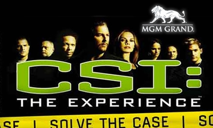 CSI: The Experience - The Strip: $30 for Two Passes to CSI: The Experience at the MGM Grand (Up to $60 Value)