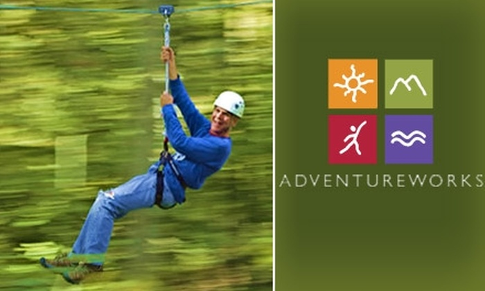 Adventureworks - Nashville: $45 Zip-Line Tour for Two at Adventureworks ($96 Value)