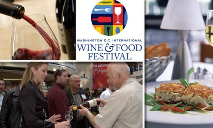 Washington DC International Food & Wine Festival - Federal Triangle: $50 for Wine Tastings, Food Samples, and Chef Demos at the International Wine & Food Festival on February 14 ($85 Value)